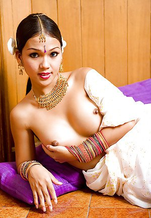 Big tit Thai ladyboy Amy showing off her small dick and pretty face
