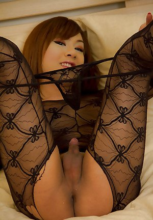 Pretty Asian tranny Patty has a very small cock and it's kept shaved