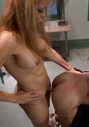 Kinky blonde shemale Johanna B is a fan of BDSM and hardcore fucking