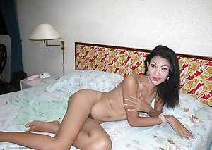 Petite ladyboy taking shower and jerking off small shedick