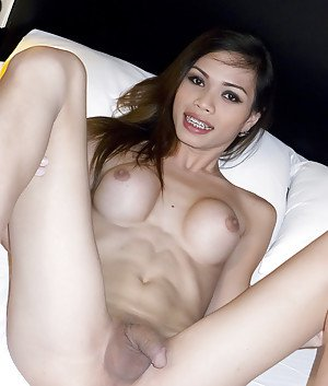 Tiny Asian ladyboy Wicky got her nasty asshole fucked doggystyle