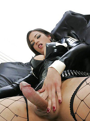 Busty Ebony shemale fucking a hot slut and a bisexual cock hungry slave