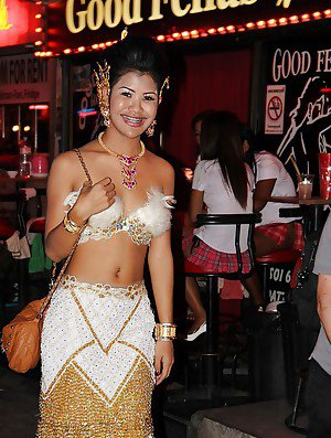 Exotic Thai ladyboys on public display in non nude series