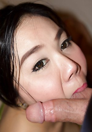 Asian ladyboy Anny gives a blowjob and receives a big one in the anus