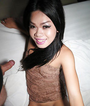 Cute tattooed shemale Kita is at the club and rides reverse cowgirl