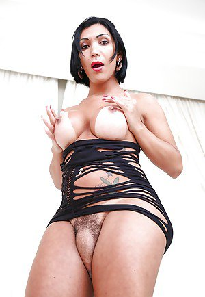Beautiful Latina tranny Sabrina Suzuki showing off sexy big booty