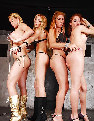 Shemale on shemale bareback butt fucking with Alexia Firenze and Bia Bastos