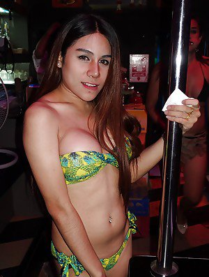 Compilation of various Asian shemales in bikinis and lingerie